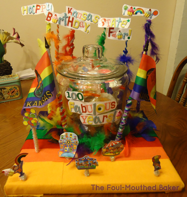 This is the Governor's Cookie Jar I made because Brownback has a lot of pride in rainbows!