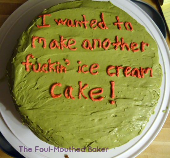 Ice cream cake > cake