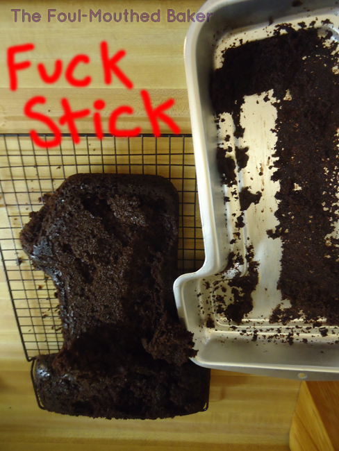 Shit. I didn't wait for the cake to cool long enough. Fuck Sticks.