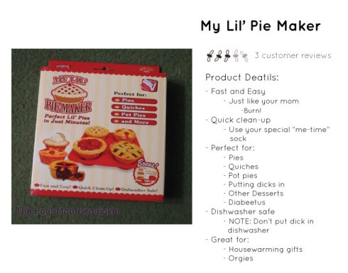 Products Details: My Lil' Pie Maker