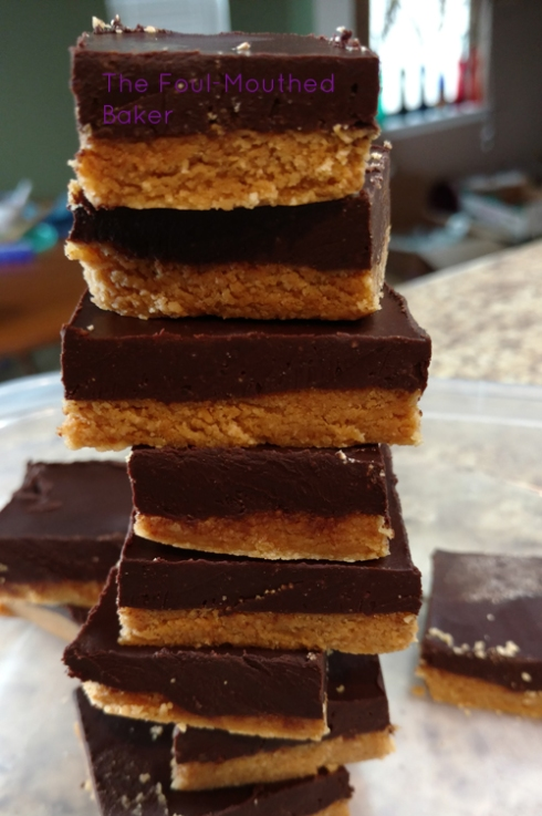 A mother fuckin' tower of peanut butter bars!